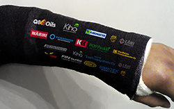 Team official driver titanium arm...